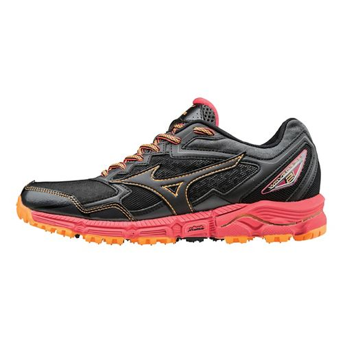 Womens Mizuno Wave Daichi 2 Trail Running Shoe - Black/Diva Pink 9.5