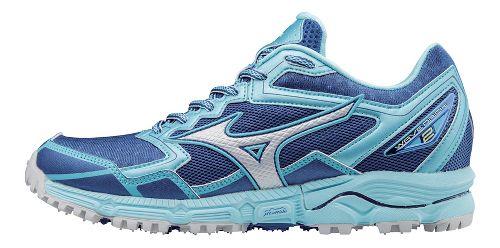 Womens Mizuno Wave Daichi 2 Trail Running Shoe - True Blue/Blue Topaz 10.5