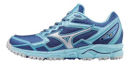 Womens Mizuno Wave Daichi 2 Trail Running Shoe - True Blue/Blue Topaz 6.5