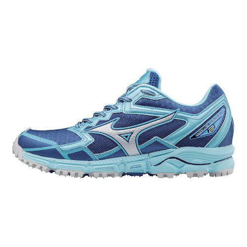 Womens Mizuno Wave Daichi 2 Trail Running Shoe - True Blue/Blue Topaz 11