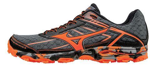 Mens Mizuno Wave Hayate 3 Trail Running Shoe - Grey/Orange 7.5