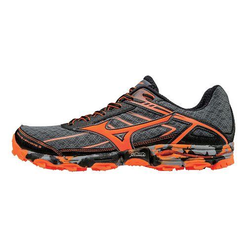 Mens Mizuno Wave Hayate 3 Trail Running Shoe - Grey/Orange 11.5