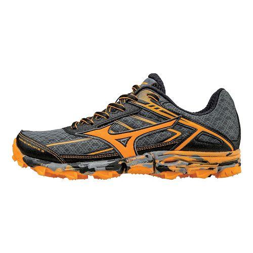 Womens Mizuno Wave Hayate 3 Trail Running Shoe - Grey/Orange 6.5