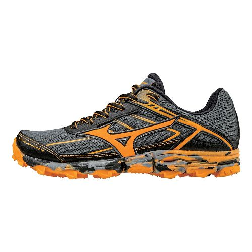 Womens Mizuno Wave Hayate 3 Trail Running Shoe - Grey/Orange 9