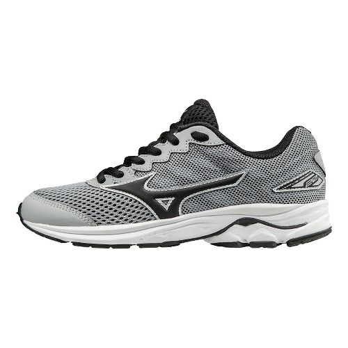 Kids Mizuno Wave Rider 20 Running Shoe - Grey/Black 5Y