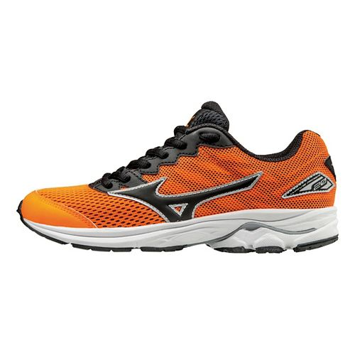 Kids Mizuno Wave Rider 20 Running Shoe - Orange/Black 4.5Y