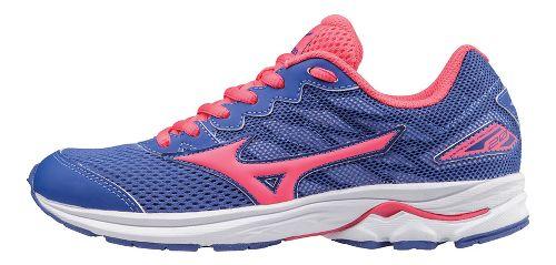 Kids Mizuno Wave Rider 20 Running Shoe - Violet/Pink 6.5Y