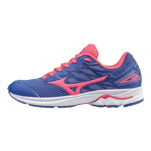 Kids Mizuno Wave Rider 20 Running Shoe - Violet/Pink 4.5Y