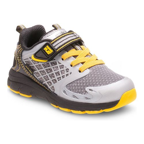 Kids Stride Rite M2P Breccen Running Shoe - Black/Yellow 10C