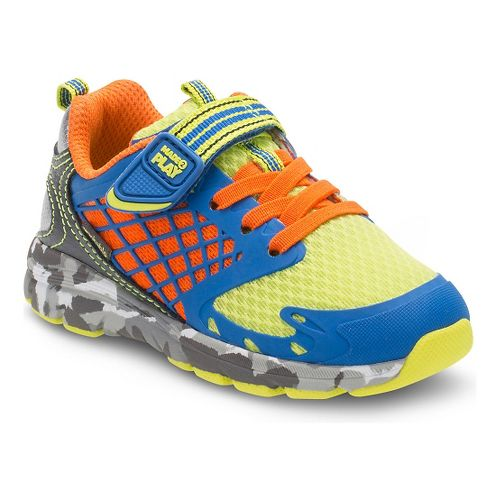 Stride Rite Boys M2P Breccen Running Shoe - Royal/Lime 4.5C