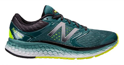 Mens New Balance Fresh Foam 1080v7 Running Shoe - Green/Yellow 12.5