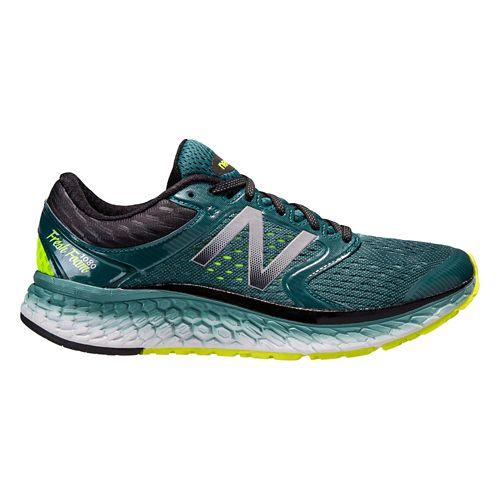 Mens New Balance Fresh Foam 1080v7 Running Shoe - Green/Yellow 10.5