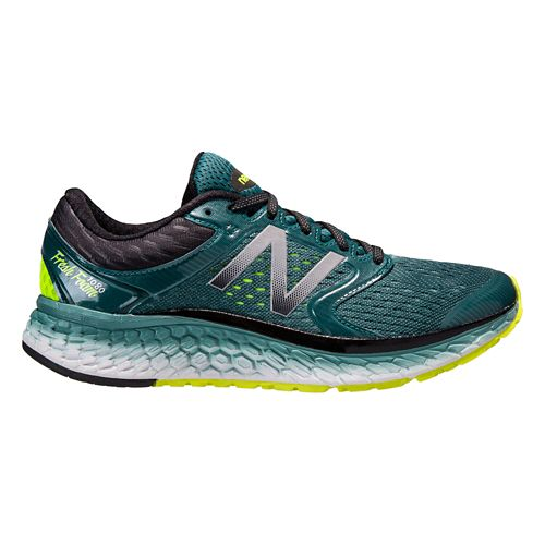 Mens New Balance Fresh Foam 1080v7 Running Shoe - Green/Yellow 14