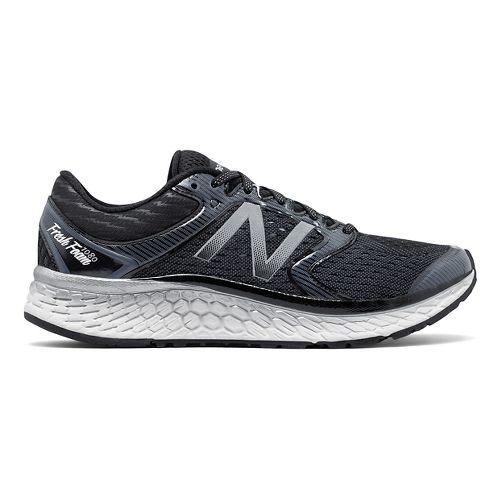 Mens New Balance Fresh Foam 1080v7 Running Shoe - Black/White 11.5