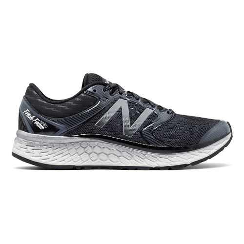 Mens New Balance Fresh Foam 1080v7 Running Shoe - Black/White 8.5