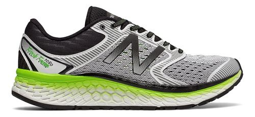 Mens New Balance Fresh Foam 1080v7 Running Shoe - White/Energy Lime 10.5