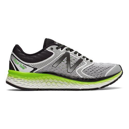 Mens New Balance Fresh Foam 1080v7 Running Shoe - White/Energy Lime 10.5
