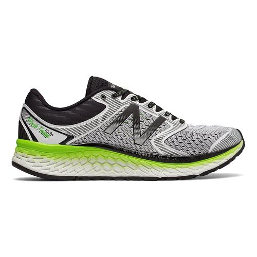Mens New Balance Fresh Foam 1080v7 Running Shoe - White/Energy Lime 7.5