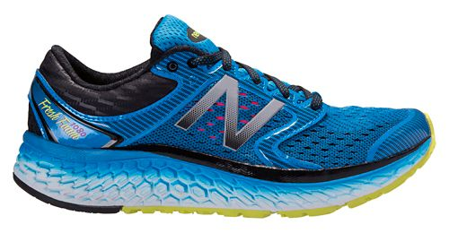 Mens New Balance Fresh Foam 1080v7 Running Shoe - Blue/Yellow 9
