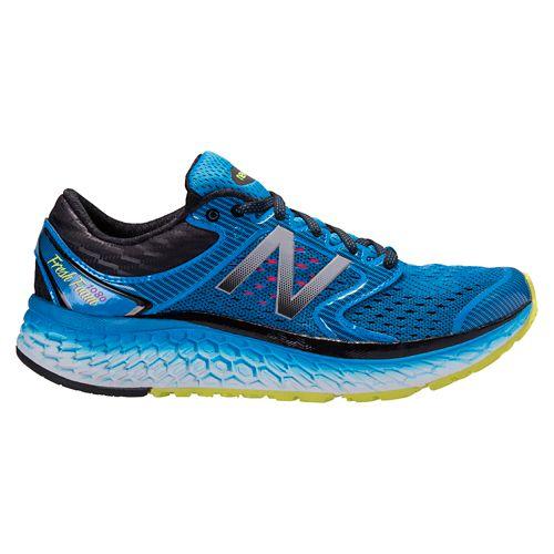 Mens New Balance Fresh Foam 1080v7 Running Shoe - Blue/Yellow 12.5