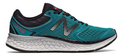 Mens New Balance Fresh Foam 1080v7 Running Shoe - Pisces/Black 9.5