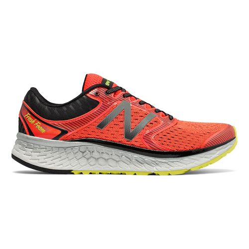 Mens New Balance Fresh Foam 1080v7 Running Shoe - Orange/Yellow 13