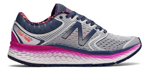 Womens New Balance Fresh Foam 1080v7 Running Shoe - Arctic/Pink 8.5