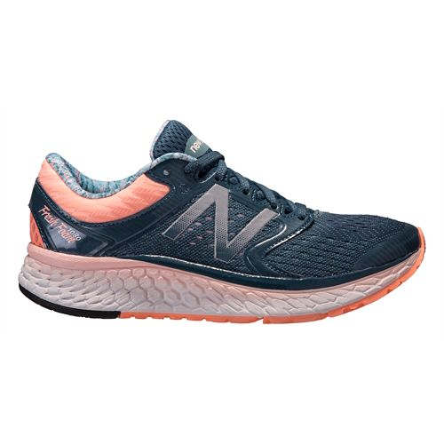 Womens New Balance Fresh Foam 1080v7 Running Shoe - Grey/Pink 10.5