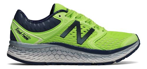 Womens New Balance Fresh Foam 1080v7 Running Shoe - Lime Glo/Indigo 8.5