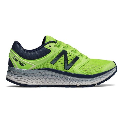 Womens New Balance Fresh Foam 1080v7 Running Shoe - Lime/Indigo 10.5