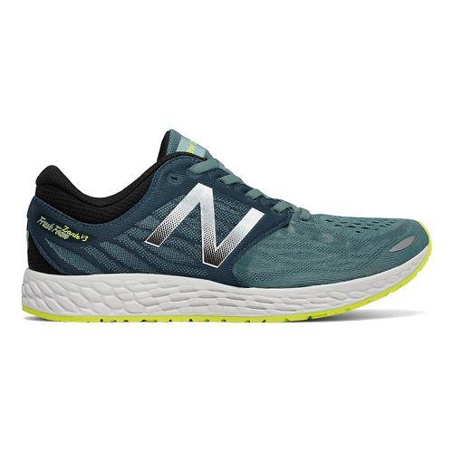 Mens New Balance Fresh Foam Zante v3 Running Shoe - Grey/Yellow 9