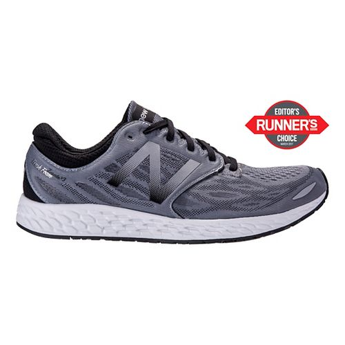 Mens New Balance Fresh Foam Zante v3 Running Shoe - Grey/Black 10