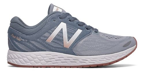 Womens New Balance Fresh Foam Zante v3 Running Shoe - Grey/Rose Gold 8.5