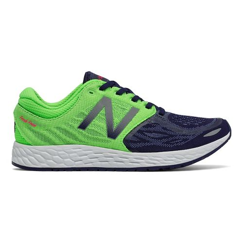 Womens New Balance Fresh Foam Zante v3 Running Shoe - Navy/Green 7.5