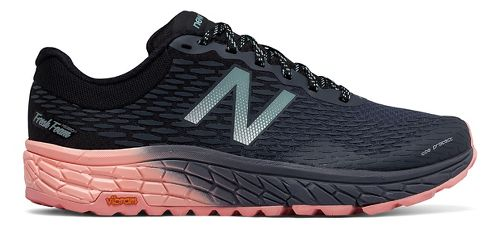 Womens New Balance Fresh Foam Hierro v2 Trail Running Shoe - Black/Pink 10.5