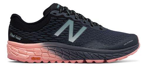 Womens New Balance Fresh Foam Hierro v2 Trail Running Shoe - Black/Pink 7.5