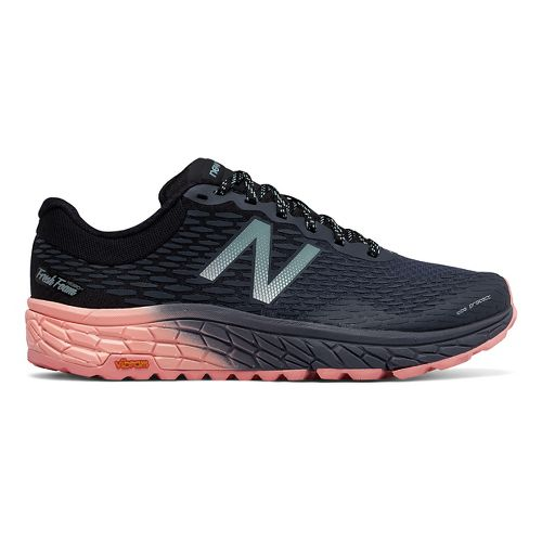 Mens New Balance Fresh Foam Hierro v2 Trail Running Shoe - Black/Pink 10.5