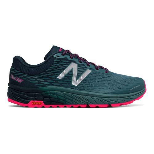 Womens New Balance Fresh Foam Hierro v2 Trail Running Shoe - Deep Teal/Pink 9