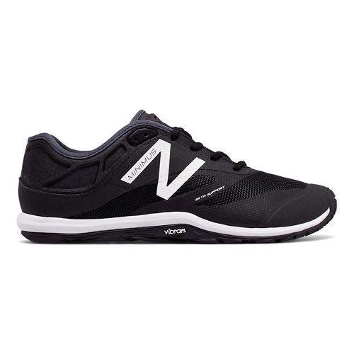 Mens New Balance Minimus 20v6 Cross Training Shoe - Black/White 12