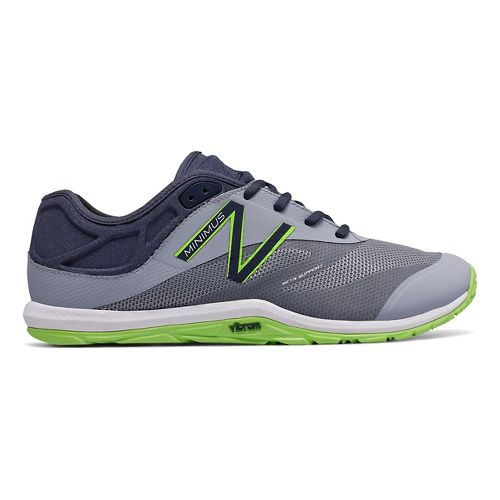 Mens New Balance Minimus 20v6 Cross Training Shoe - Grey/Green 12.5