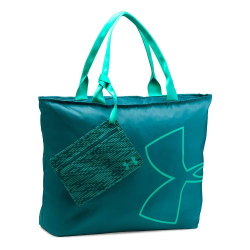 Womens Under Armour Big Logo Tote Bags - Marlin Blue/Green