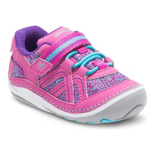 Stride Rite Girls SM Bristol Casual Shoe - Pink/Multi 3C