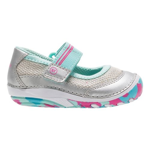 Stride Rite SM Gwyn Casual Shoe - Silver/Turquoise 3.5C