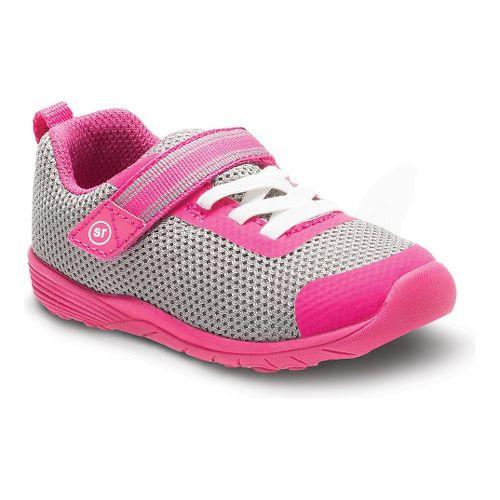 Stride Rite Girls Dree Casual Shoe - Grey/Pink 6.5C