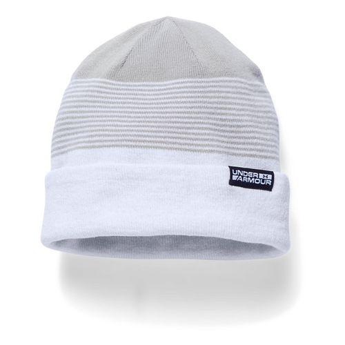Mens Under Armour 4-in-1 Beanie Headwear - White/Steel