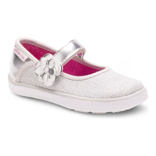 Kids Stride Rite Marleigh Casual Shoe - Silver 10.5C
