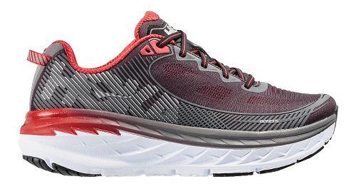 Mens Hoka One One Bondi 5 Running Shoe - Black/Red 9