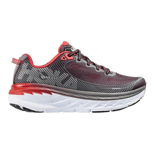 Mens Hoka One One Bondi 5 Running Shoe - Black/Red 11