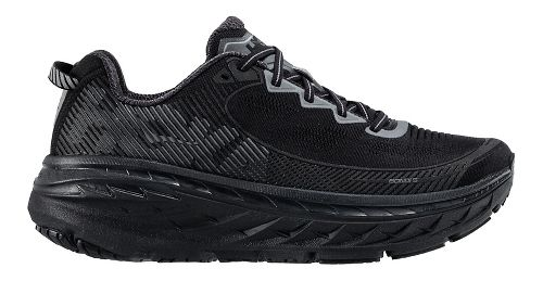 Mens Hoka One One Bondi 5 Running Shoe - Black/Anthracite 12