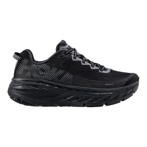 Mens Hoka One One Bondi 5 Running Shoe - Black/Anthracite 8